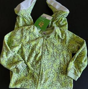 Carter's zip-up fleece footie PJ's size 2t